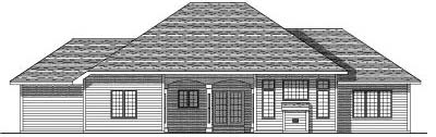 Rear Elevation Plan: 7-182