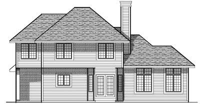 Rear Elevation Plan: 7-184