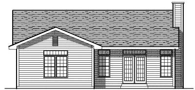 Rear Elevation Plan: 7-185