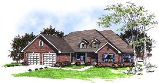 Traditional Style Home Design Plan: 7-186
