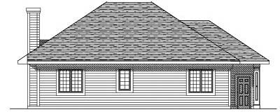 Rear Elevation Plan: 7-187