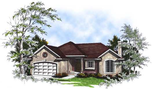Mediterranean Style House Plans Plan: 7-188