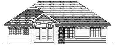 Rear Elevation Plan: 7-190
