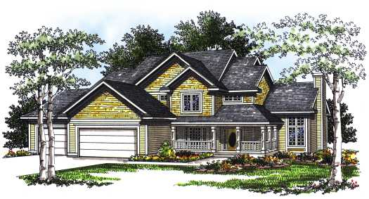 Farm Style Home Design Plan: 7-193