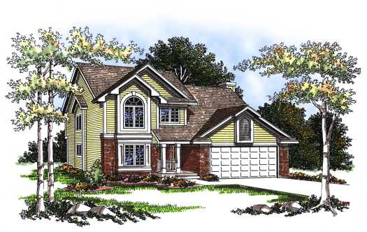 Traditional Style Home Design Plan: 7-194
