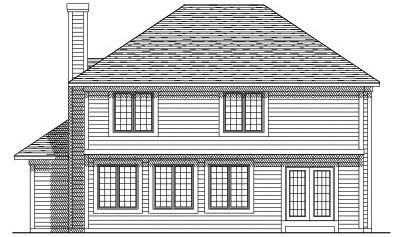 Rear Elevation Plan: 7-195