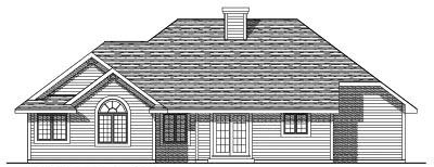 Rear Elevation Plan: 7-196