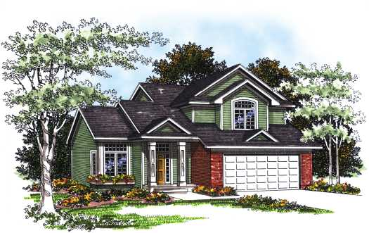 Traditional Style Home Design Plan: 7-197