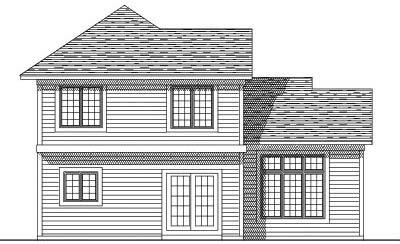 Rear Elevation Plan: 7-197