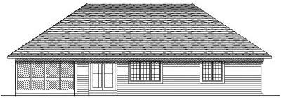 Rear Elevation Plan: 7-199