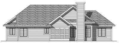 Rear Elevation Plan: 7-200
