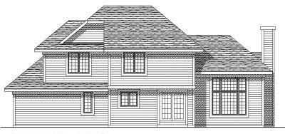 Rear Elevation Plan: 7-202