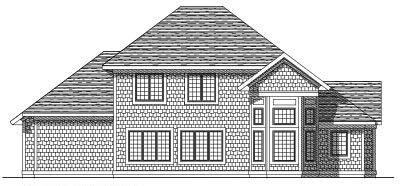 Rear Elevation Plan: 7-203