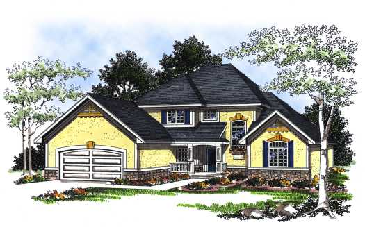 Traditional Style Home Design Plan: 7-204