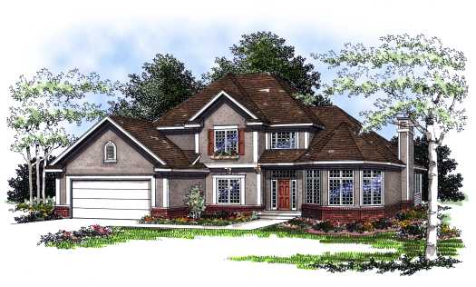 Traditional Style Home Design Plan: 7-205