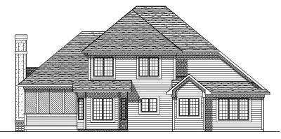 Rear Elevation Plan: 7-205