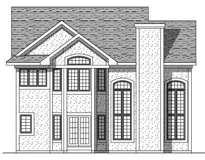 Rear Elevation Plan: 7-206