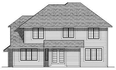 Rear Elevation Plan: 7-207