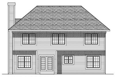 Rear Elevation Plan: 7-208
