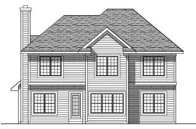 Rear Elevation Plan: 7-209