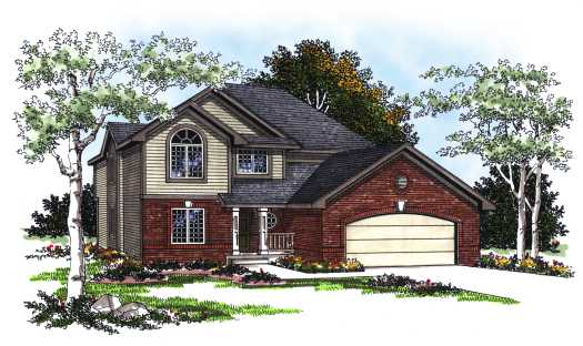 Traditional Style Home Design Plan: 7-210