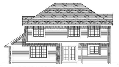 Rear Elevation Plan: 7-210