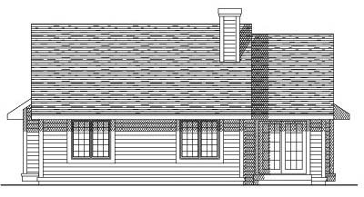 Rear Elevation Plan: 7-211