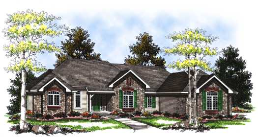 Ranch Style Home Design Plan: 7-212