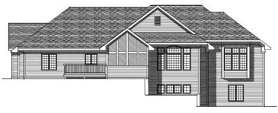 Rear Elevation Plan: 7-212