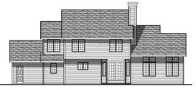 Rear Elevation Plan: 7-216