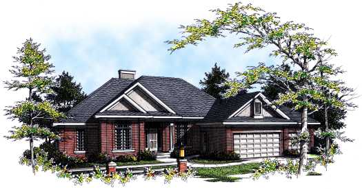 Traditional Style Home Design Plan: 7-217