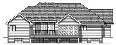 Rear Elevation Plan: 7-219