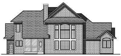 Rear Elevation Plan: 7-220
