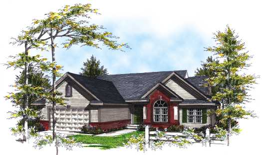 Traditional Style Home Design Plan: 7-221