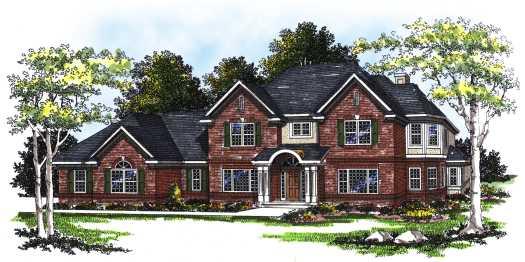 European Style House Plans Plan: 7-222