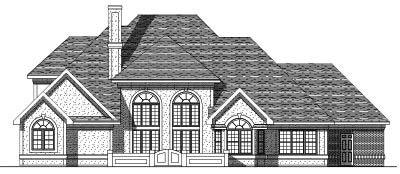 Rear Elevation Plan: 7-222