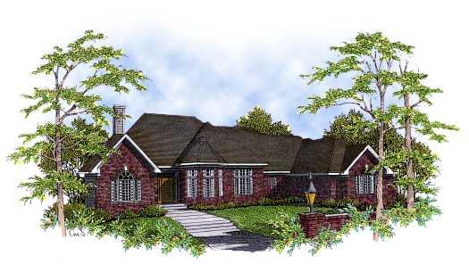European Style Home Design Plan: 7-224