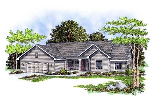 Ranch Style Home Design Plan: 7-225