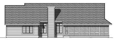 Rear Elevation Plan: 7-225
