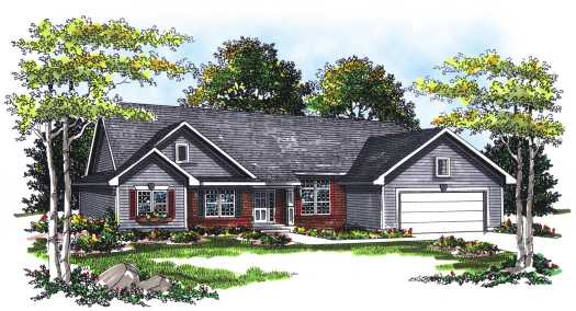 Ranch House Plan - 3 Bedrooms, 2 Bath, 1750 Sq Ft Plan 7-229 on