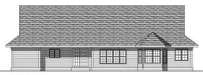 Rear Elevation Plan: 7-229