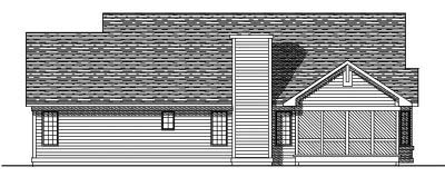 Rear Elevation Plan: 7-230