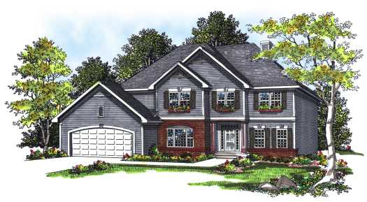 Traditional Style Home Design Plan: 7-231