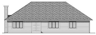 Rear Elevation Plan: 7-232