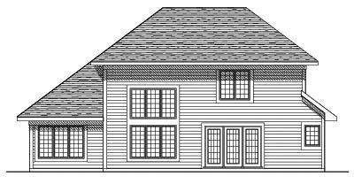 Rear Elevation Plan: 7-233