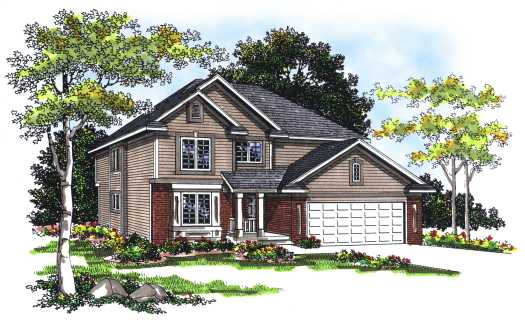 Traditional Style Home Design Plan: 7-234