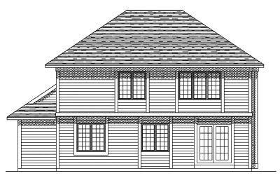 Rear Elevation Plan: 7-234