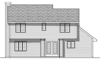 Rear Elevation Plan: 7-235