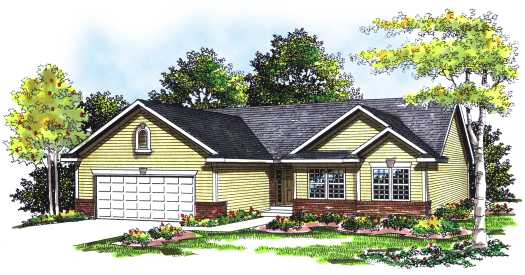 Ranch Style Home Design Plan: 7-236