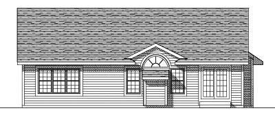 Rear Elevation Plan: 7-236